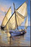 Violet Boat Stretched Canvas Print by Jaume Laporta
