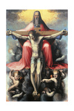 Vallombrosa Altarpiece, Crucifixion,  Andrea del Sarto, 16th c. Uffizi Gallery, Florence, Italy Prints by  Andrea del Sarto
