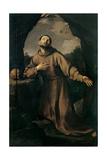 St. Francis in Ecstasy Poster von Guido Reni