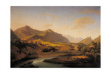 Oglio River and the Mountains of Bergamo and Brescia Region Prints by Marco Gozzi
