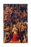 Martyrdom of St. Catherine Kunst af Gaudenzio Ferrari