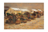 Vegetable Market, c. 1880-1885. Italy Print by Demetrio Cosola