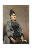 Portrait of His Second Wife Láminas por Giovanni Fattori