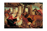 Adoration of the Shepherds Posters by  Bassano