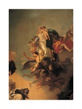 Our Lady of Mount Carmel Appearing to St. Simon Stock,detail,by Giambattista Tiepolo, 1743-49.Italy Art by Tiepolo Giambattista