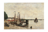 Anvers, the Port Print by Eugène Boudin
