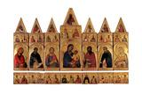 Polyptych of St Catherine Kunst af Simone Martini