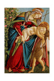 Madonna with Child Embracing the Young St. John Prints by Sandro Botticelli