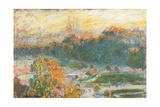 Die Tuilerien Poster von Claude Monet
