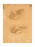 Drawing of Hands Print by Cesare da Sesto