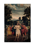 Baptism of Christ Print by Defendente Ferrari