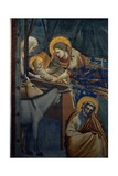 Life of Christ, the Nativity in the Stable Plakat af  Giotto di Bondone