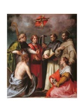 Disputation over the Trinity Giclee Print by Andrea Del Sarto