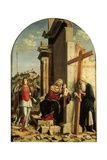 Madonna Enthroned and Child, Sts. Michael the Archangel & Andrew Print by Cima da Conegliano