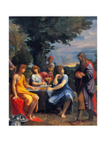 Abraham and the Three Angels Lámina por Ludovico Carracci