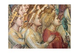 Last Judgment, Hosts of the Blessed Prints by  Giotto di Bondone