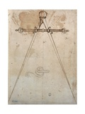Compasses-calipers with adjustable screw span Prints by Antonio Da Sangallo The Younger
