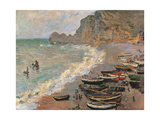Etretat. The Beach Giclee Print by Claude Monet