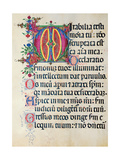 Psalter with holiday Hymns, illuminated manuscript, 15th c. Osservanza Basilica, Siena, Italy Posters