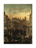 Miracle of the Relic of the True Cross at the Rialto Bridge Posters by Vittore Carpaccio