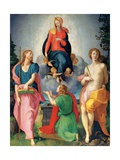 Madonna of the Girdle between St James and St Sebastian Print by Pontormo Carrucci