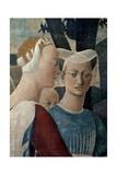 Legend of the Cross: Solomon & Sheba Poster by  Piero della Francesca