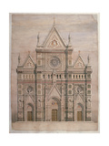 Dome, Drawing for the Fae of Florence Cathedral, 1866 - 1867. Italy Prints by Emilio De Fabris