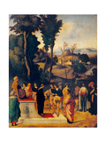 Moses Undergoing Trial by Fire Posters by  Giorgione