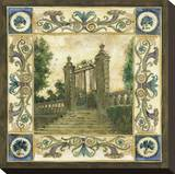 Garden Steps Stretched Canvas Print by Elizabeth Jardine