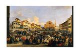 Piazza di St. Croce During Carnival Prints by Giovanni Signorini