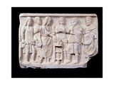 Relief with a Sacrifice Scene, c. 250-300 A.D. Ancient Roman sculpture. Palazzo Massimo, Rome Prints