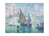 Green Sail, Venice Planscher av Paul Signac