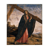 Christ Carrying the Cross Poster von Alvise Vivarini