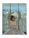 Dancer at the Photographers Studio Giclee Print by Edgar Degas