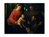 Madonna and Child with St. Anthony of Padua and a Donor Prints by  Cariani