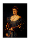 Portrait of a Noblewoman, or La Bella Print by  Titian (Tiziano Vecelli)