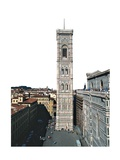 Bell tower of Santa Maria del Fiore Cathedral, 1334-1360. Florence, Italy. Print by  Giotto di Bondone