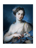 Allegory of Spring, by Rosalba Carriera, 1726-1727. Private collection Giclée-tryk af Rosalba Carriera