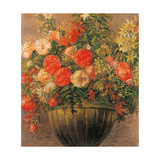 Roses Giclee Print by Gaetano Previati
