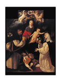 Madonna of the Rosary Print by Cerano Crespi