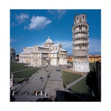 Campo dei Miracoli, with Cathedral and Leaning Tower of Pisa, 1063-1350. Italy Giclee Print by Bonanno Pisano