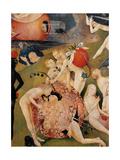 Garden of Earthly Delights,(Martyrs & Angels) by Hieronymus Bosch, c. 1503-04. Prado. Detail. Poster von Hieronymus Bosch