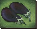 Two Eggplants Stretched Canvas Print by Will Rafuse