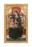 Madonna and Child Enthroned with Four Angels Poster by Pietro Alemanno