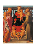 Madonna and Child with Two Saints Posters by Pontormo Carrucci