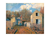 Village of Voisins (Yvelines) Giclee Print by Alfred Sisley