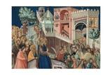 Entry of Christ into Jerusalem Poster by Pietro Lorenzetti