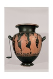 Red-Figured Attic Clay Hydria with Dancing Maenads, 5th c. B.C. Archaeological Museum,Naples, Italy Art