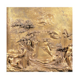 Creation of Adam and Eve Plakater af Lorenzo Ghiberti