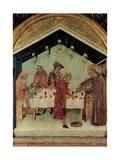 St. Matthew and the Angel Kunstdrucke von Simone Martini